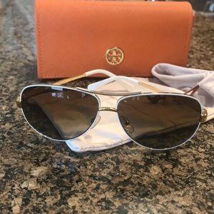 White Tory Burch Sunglasses